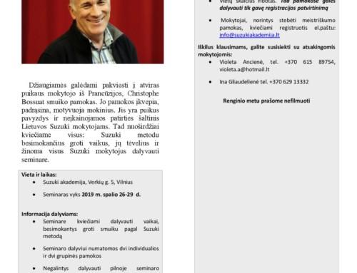 Christophe Bossuat smuiko pamokos